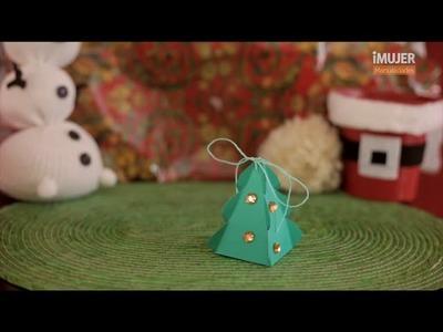 Cajitas de regalo con forma de árbol de navidad | @iMujerHogar