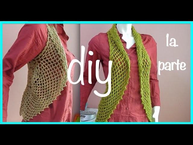 Chaleco Torera Motivo Circular Abanico Crochet Ganchillo parte 1