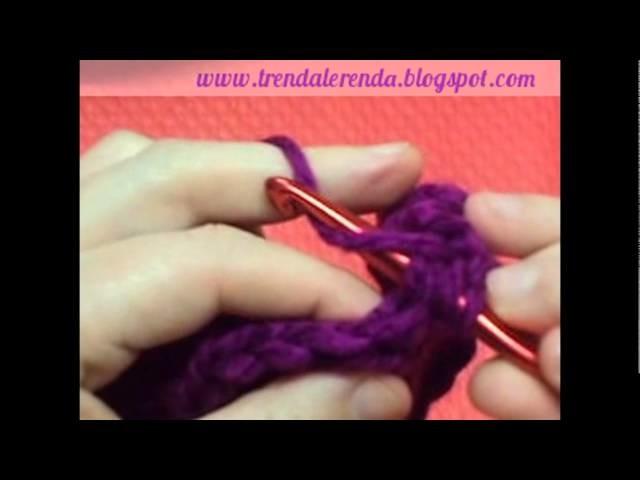 Clase 4: Punto alto. Lesson 4: Double crochet stitch