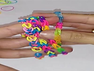 Como hacer pulseras de gomitas tutorial manualidades hecho a mano DIY rubber bracelets