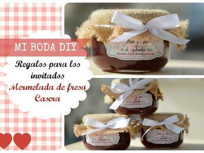 DIY Boda: Regalos invitados Mermelada Casera. Scrapbook decoración.