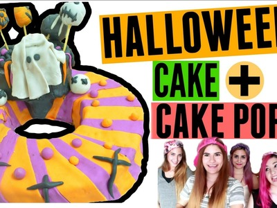 DIY: TORTA + CAKE POPS DE HALLOWEEN! l #ComandoHalloween