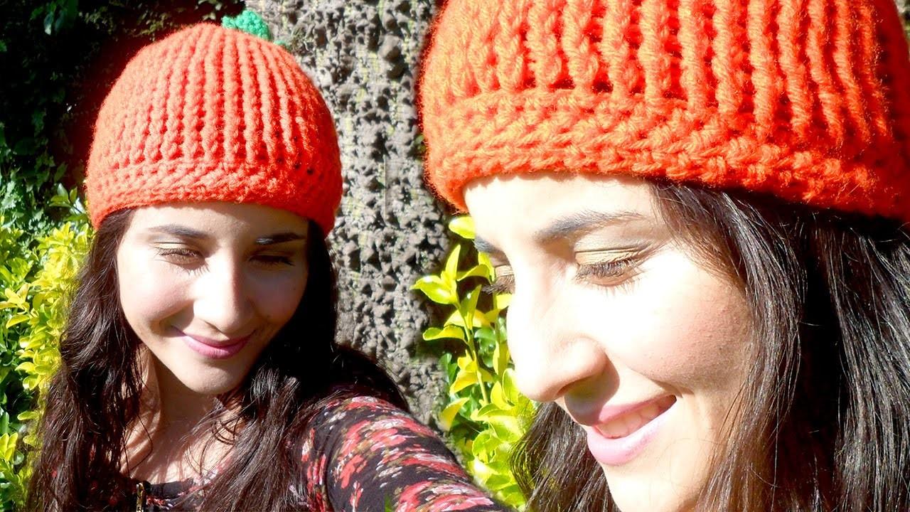 Gorro de Calabaza a Crochet Halloween 2015!  - Tutorial Paso a Paso