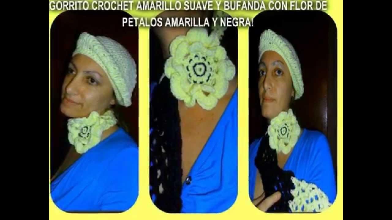 GORRO Y BUFANDA CROCHET!! HACEMOS ENVIOS X OCA!