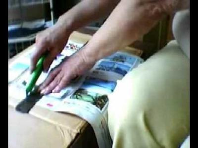 Preparando cintas de papel