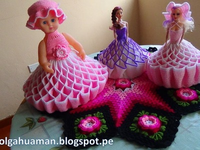 Vestido tejido a crochet para muñeca, video 3