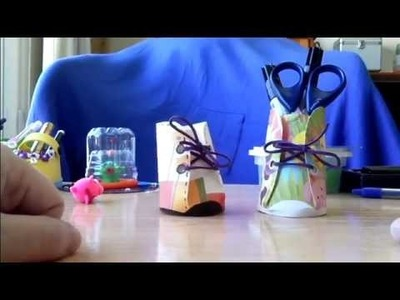 Zapatitos dulceros lapiceros de vaso de papel
