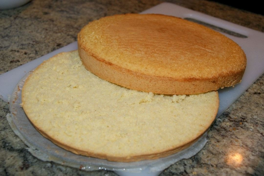 Bizcocho genovés base para tartas