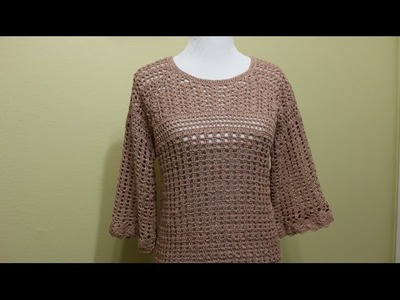 Blusa Crochet 4 Piezas parte 3 de 4