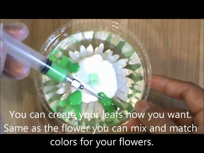 Como hacer un crisantemo. How to make a crysanthemum