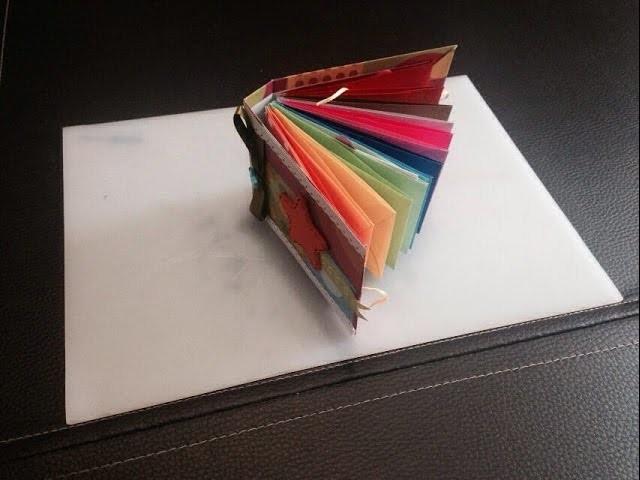 DIY, Mini álbum scrapbook con sobres de papel