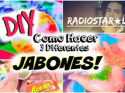 DIY: TUTORIAL DE COMO HACER 3 ESTILOS DE JABONES INCREIBLES Y FACILES!! -Nel Pastel Tv