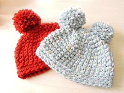 Gorro de ganchillo fácil punto bajo - Easy Crochet Hat Single Crochet