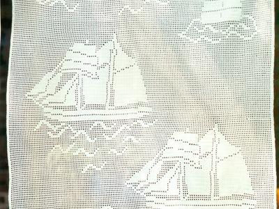 Patrón Cortina Barcos Tejida a Crochet