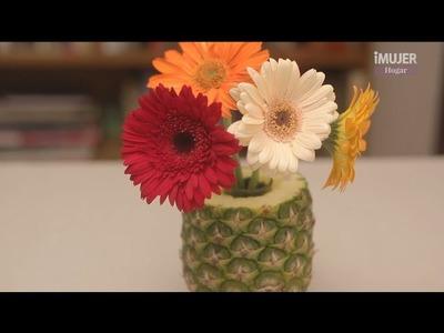 Piñas y flores para decorar tu boda | manualidades para BODAS | @iMujerHogar