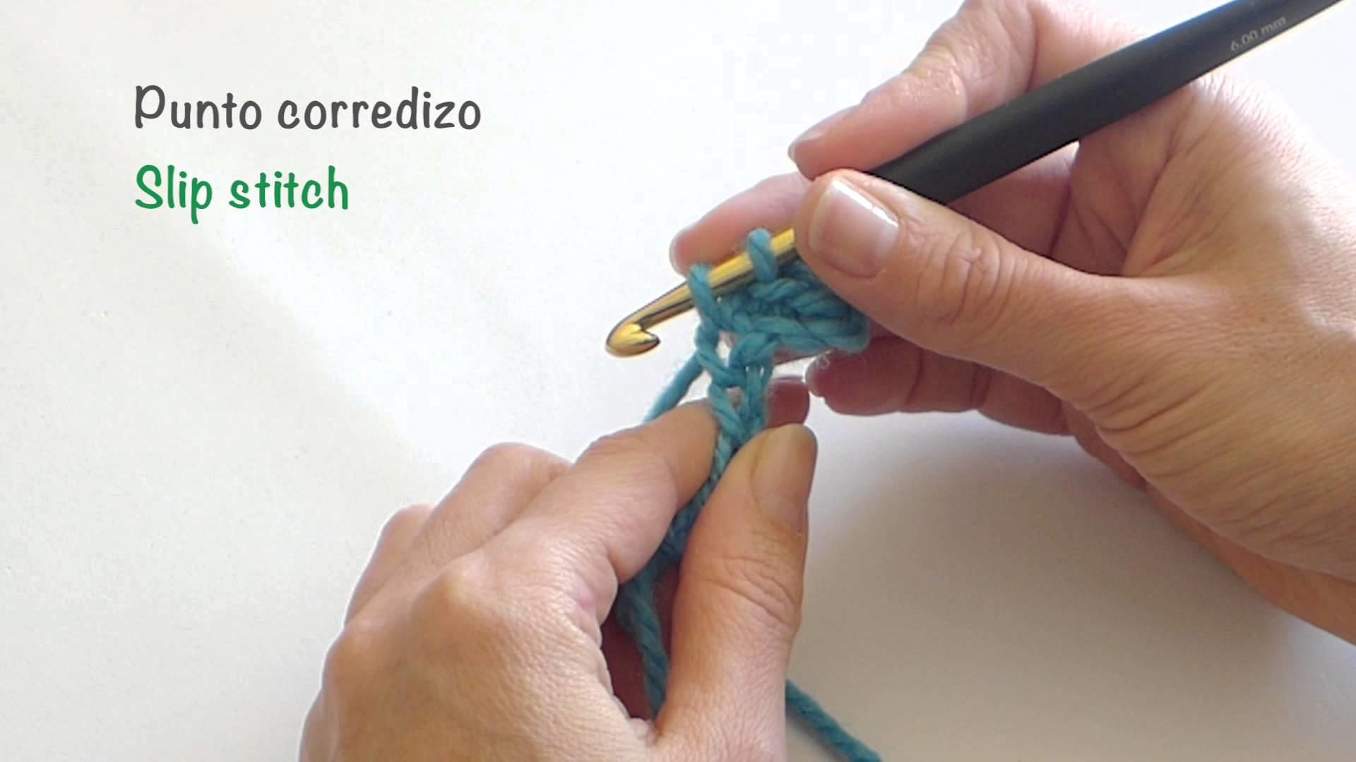 Punto corredizo de crochet. Slip stitch