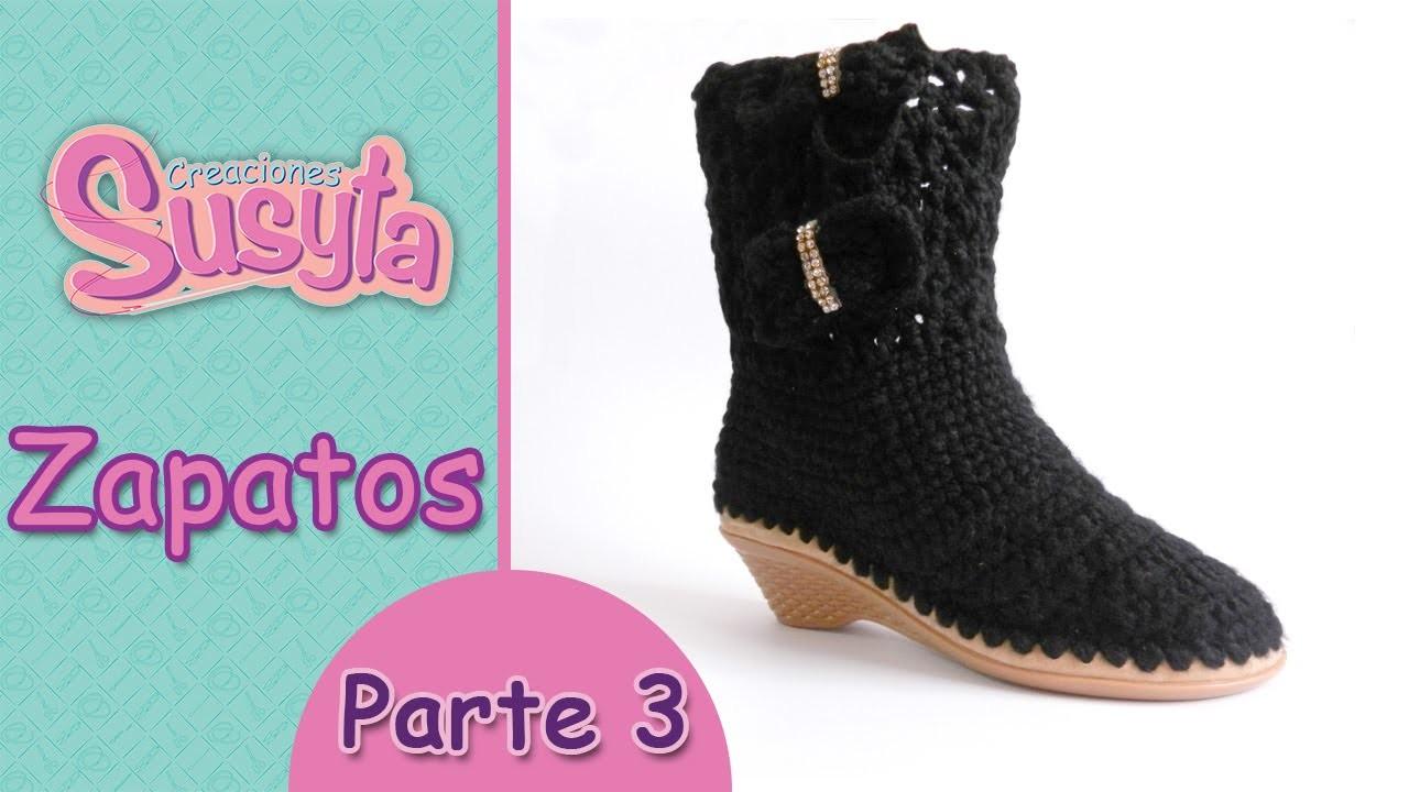 """Susyta Clases de Tejido """"Zapatos"""" Parte 3"""