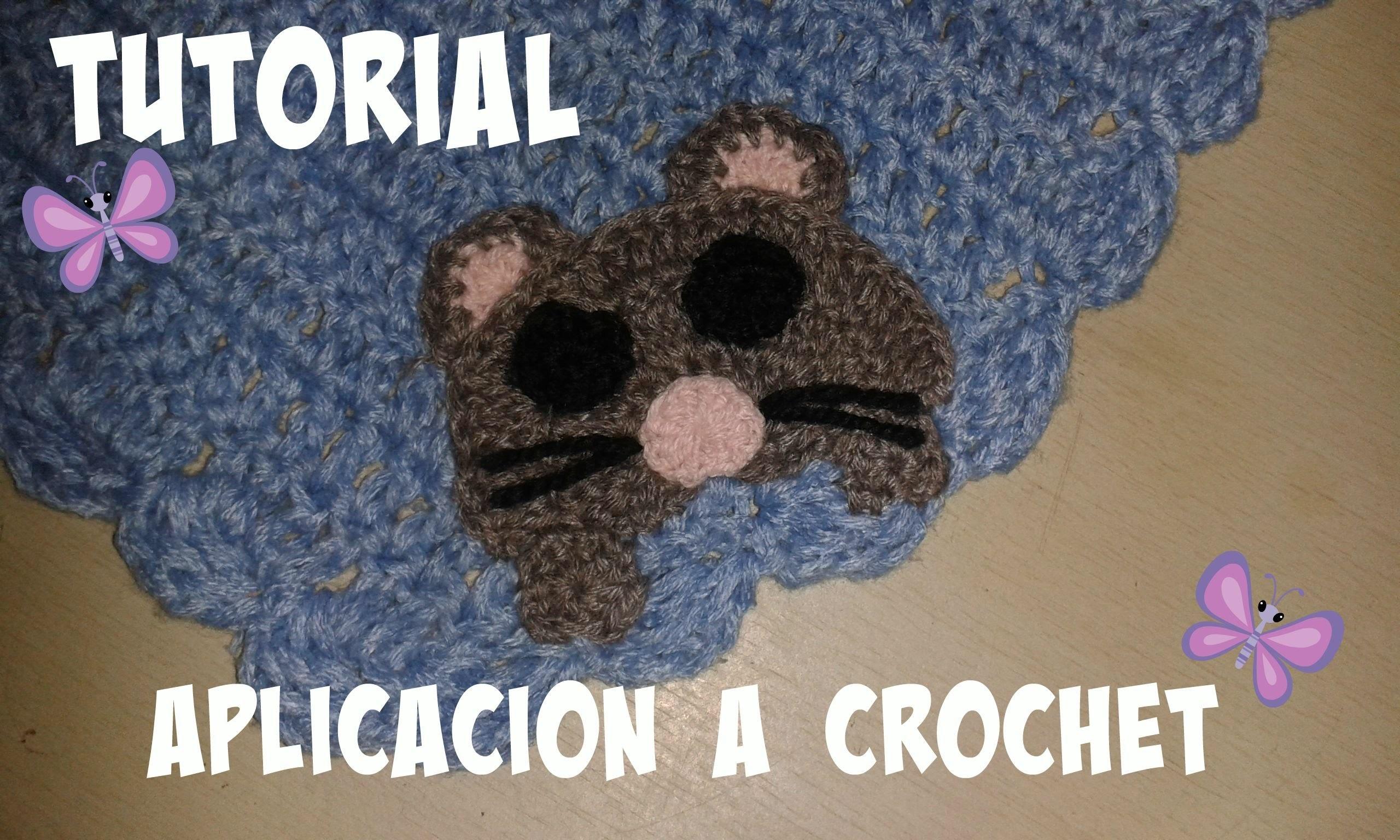 TUTORIAL RATON PARA APLICACIÓN A CROCHET
