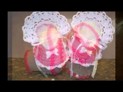 Zapatitos tejidos en crochet para recien nacido