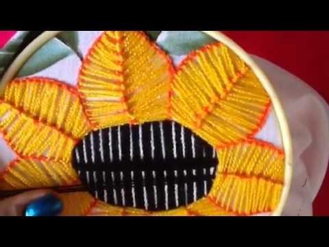 # 24 bordado fantasía para centro de girasol con cony