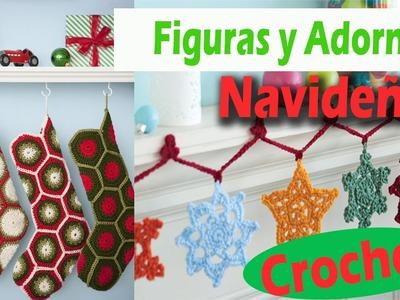 Adornos y Figuras Navideñas - Tejidas a Crochet - Imagenes ideas