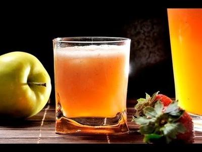 Agua de manzana con fresa