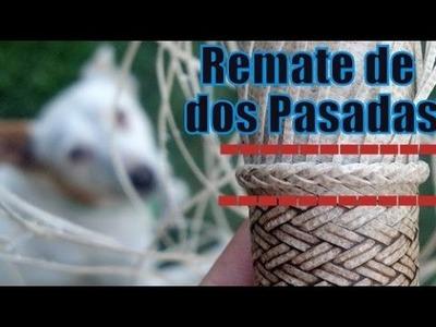 "Cabo tejido a lezna - Remate de dos pasadas ""Espiga 2x2"" ""El Rincón del Soguero"""