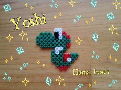 Cómo hacer a YOSHI de hama pyssla perler SUPER MARIO BROS