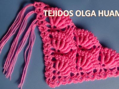 Como hacer los flecos para chal tejido a crochet