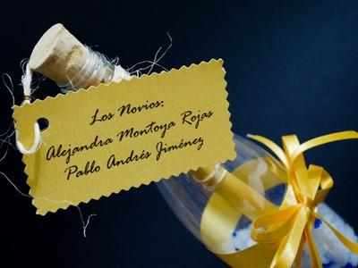 Como hacer una invitacion botella para boda, quinceaños, comuniones, bautizos DIY