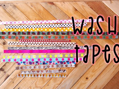 COMO HACER WASHI TAPES - SCRAPBOOKING ★ DIY ★ Mery
