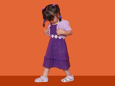 Crochet tutorial vestido solera, niña 2 años parte 3 de 3
