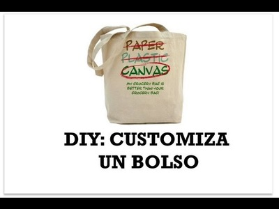 DIY Customiza un bolso