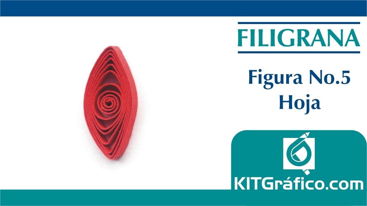 Filigrana (Quilling) figura básica No.5 - Hoja