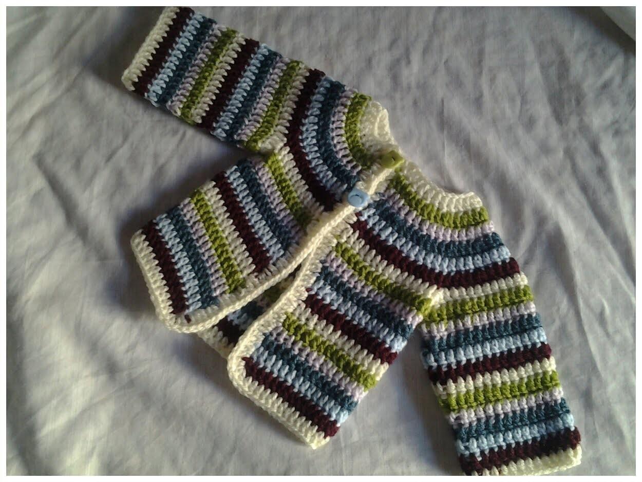 Jersey de bebe chambrita crochet #tutorial 2