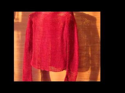 Lindas blusas a crochet para la temporada de invierno