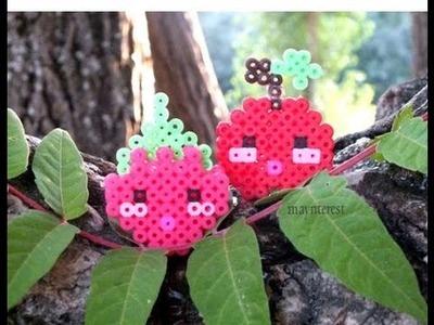 Manualidades: FRUTAS KAWAII 3D de perler beads (hama beads) | FRUITS
