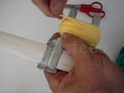 Máquina de hacer pompones casera. Fácil de hacer.