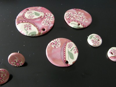 Murrina cachemir rosa en arcilla polimérica - Polymer clay pink cashmere cane