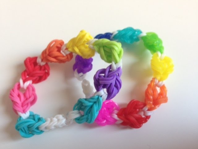 RAINBOW LOOM: Pulsera bolas de goma