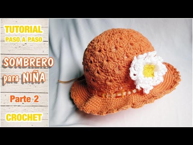 Sombrerito o gorro para niña a crochet paso a paso (2 de 2)