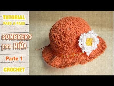 Sombrerito o gorro para niña a crochet paso a paso (1 de 2)