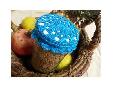 Tutorial crochet.ganchillo, tapa bote.tarro, 1