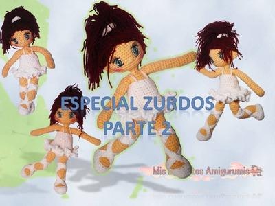 Vestido Bailarina crochet muñeca Lilia parte 2 (zurdos)