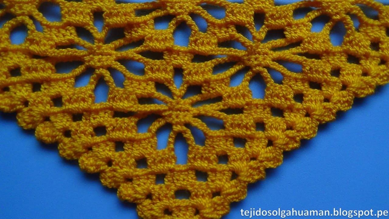 Chal tejido a crochet paso a paso en punto arañitas video 1