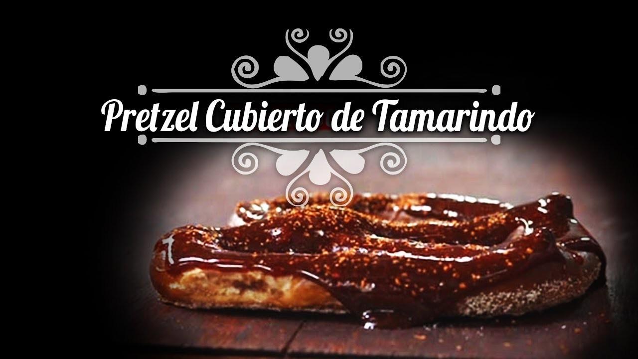 Chef Oropeza receta: Pretzels cubiertos de Tamarindo.Tamarindo covered Pretzels
