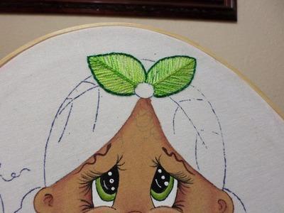 Como bordar la hoja de la niña Platano (Bordado Fantasía)