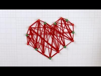 Cómo crear un corazón con hilos de lana