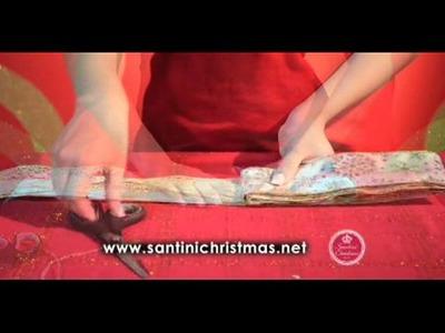 Cómo decorar con cintas y lazos Santini Christmas