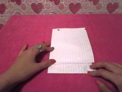 """♥Como Doblar una cartita sin sobre """"Especial San Valentin""""♥"""
